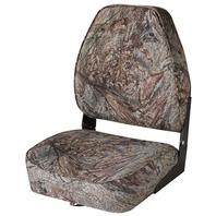 CAMOUFLAGE HIGH BACK FOLD DOWN BOAT SEAT-Mossy Oak Duck Blind