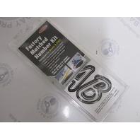 """SIBKG400 Hardline 3"""" Boat Lettering Registration Decal Kit Silver/Black"""