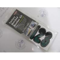 """TEBKG200 Hardline 3"""" Boat Lettering Registration Decal Kit Forest Green/Black"""