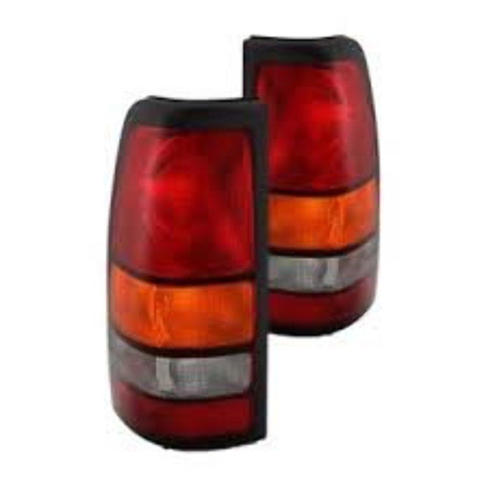 Fits 04-07 GM Sierra 2500 / 04-07 GM Sierra 3500 w/Single Rear Wheels Left & Right Set Tail Lamp Unit Assemblies