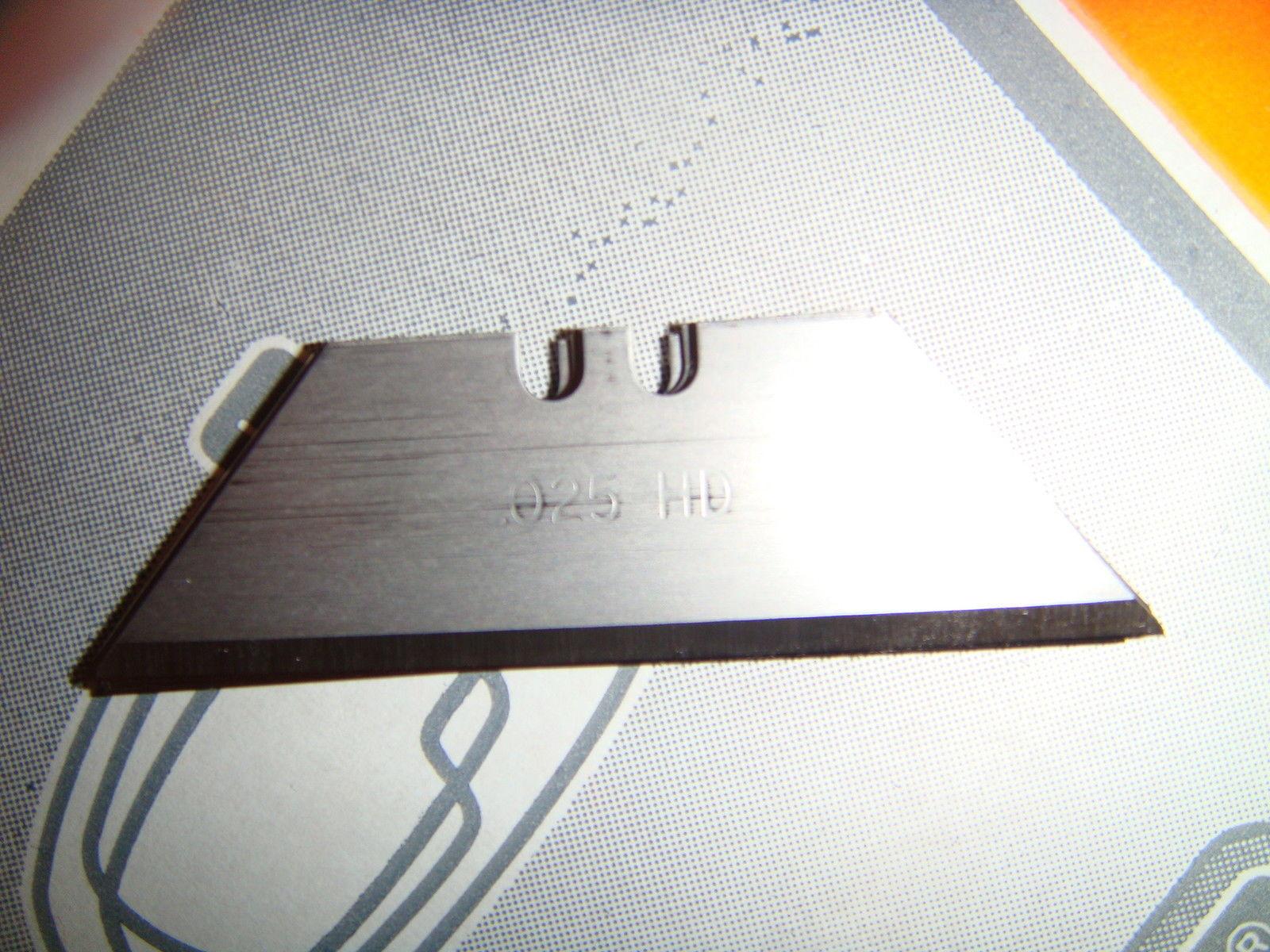 100 Pack Heavy Duty 2 Notch Utility Knife Blades .025 Pilkington OE Tech