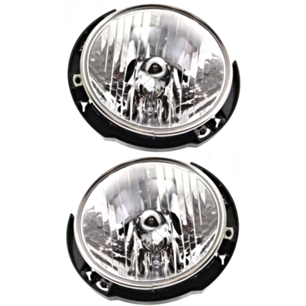 Fits 07-16  Wrangler Left & Right Headlamp Assembies - pair