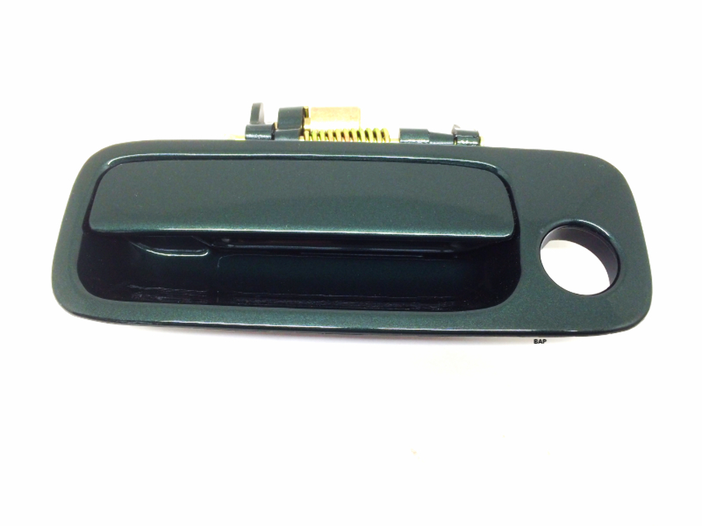 Fits 97-01 Camry Painted Left Driver Front Ext. Dr Handle Green Paint Code  6R1