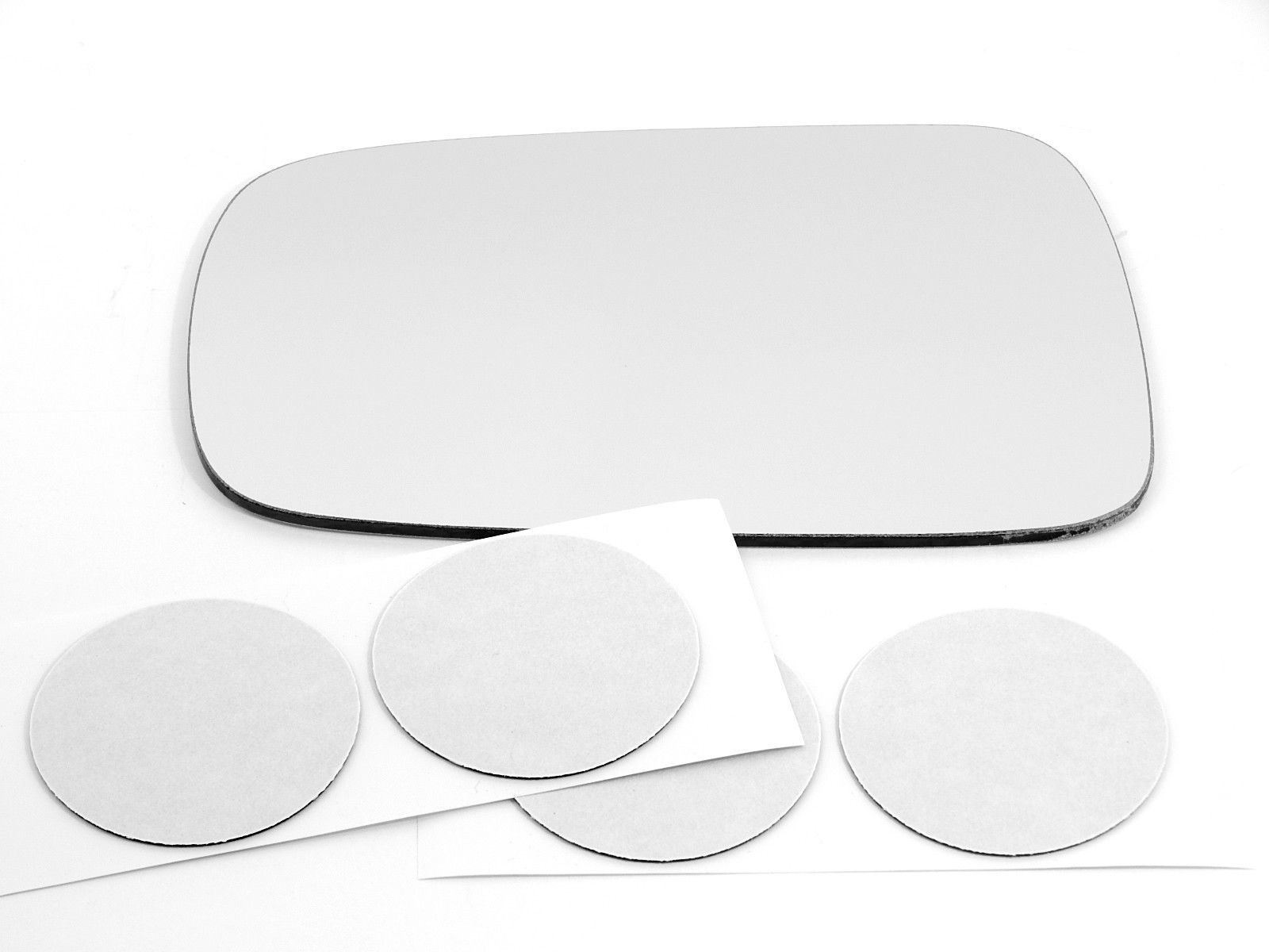 Fits 88-91 Civic DX Left Driver Mirror Glass Lens Manual w/ Adhesive