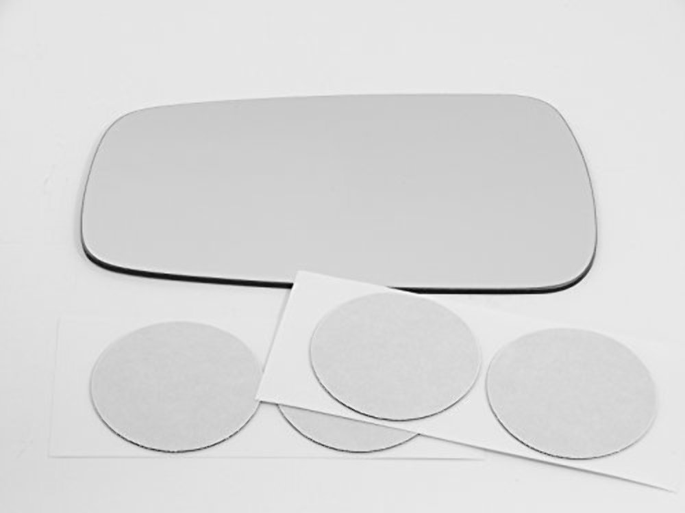 Fits 90-94 MAZDA 323 MANUAL RIGHT PASSENGER SIDE VIEW~MIRROR-GLASS+ADHESIVE PAD
