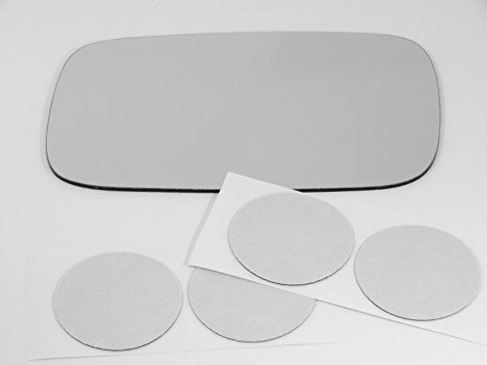 Fits 99-02 Saab 9-3, 9-5, 95-98 Saab 900 Left Driver Mirror Glass Lens w/Adhesive USA