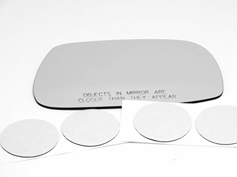 Fits 02-05  IS300 Right Pass Mirror Glass Lens w/Adhesive non Auto Dim Type
