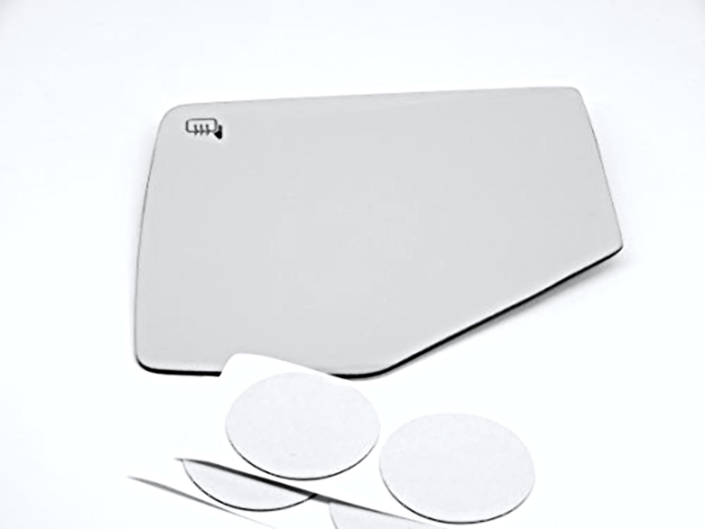 Fits 06-10 Explorer, Mountaineer, Sport Trac, Left Driver Heated Mirror Glass Lens w/Adhesive USA w/o Opt. rear backing plate