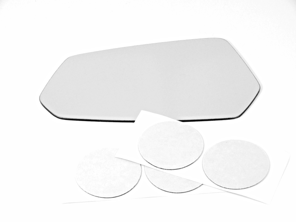 Fits 10-15 Camaro Left Driver Mirror Glass Lens non heated w/Adhesive USA