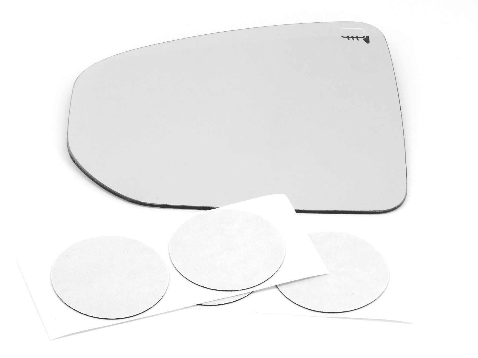 Fits 09-19  370Z Left Driver Heated Mirror Glass Lens w/ Adhesive