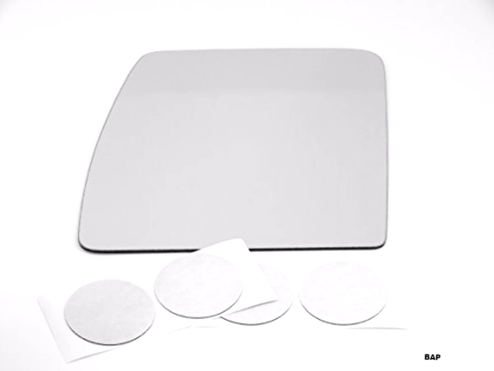 Fits 12-18 Nis NV1500, NV2500, NV3500 Left Driver Upper Mirror Glass Lens w/Adhesive USA Models without Extending Tow Mirrors