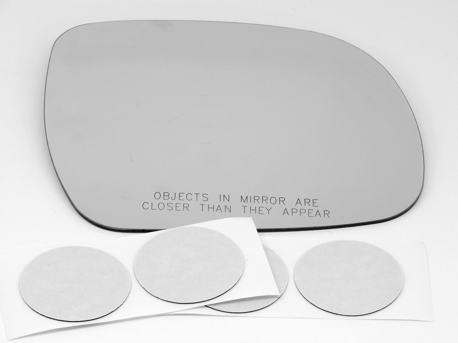 Fits 04-10 Sienna Right Pass Convex Heated Mirror (Glass Lens Only) w/Adhesive