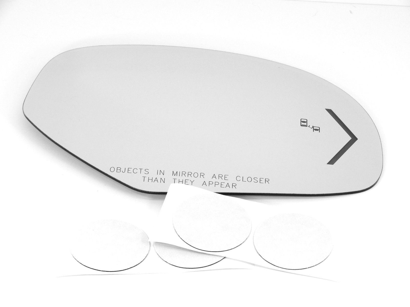 Fits 09-14 Escalade Tahoe Yukon Suburban Right Pass Mirror Glass  Lens w/Signal  Blind Spot Icon