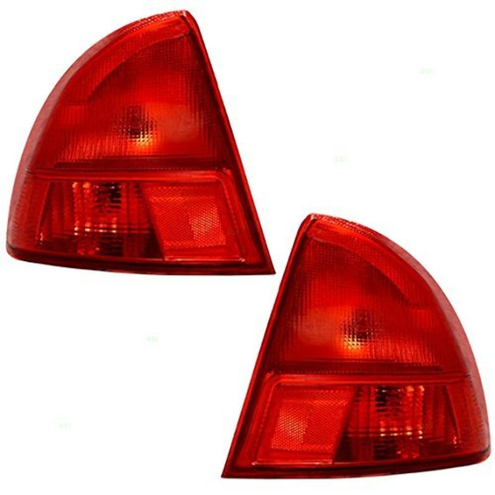 Fits 01-02  Civic Sedan TL (Outer) Left & Right Set Tail Lamps Assemblies