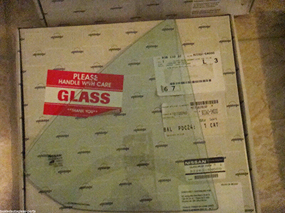 Right Passenger Side Rear Vent Glass New     Fits 00-06 Sentra