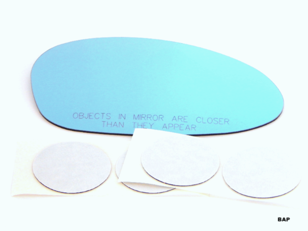 Right Passenger Blue Mirror Glass Lens  w/Adhesive for 08-09 BMW 128i, 135i