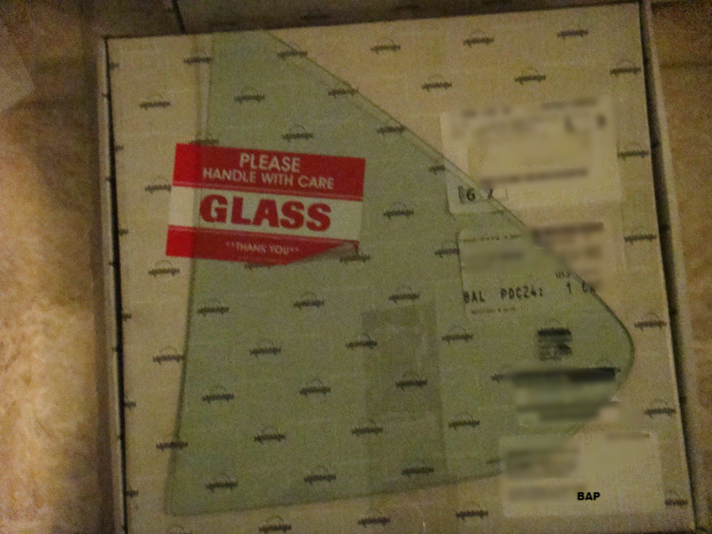 Right Passenger Rear Vent Glass Triangle Window New   Fits 95-99 Nissan Sentra