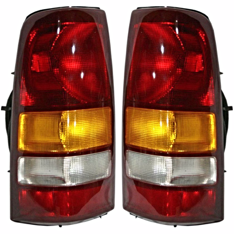 Fits 01 GM Sierra C3 Fleetside Pickup/02-03 GM Sierra Denali Fleetside Pickup Left & Right Set Tail Lamp Unit Assemblies