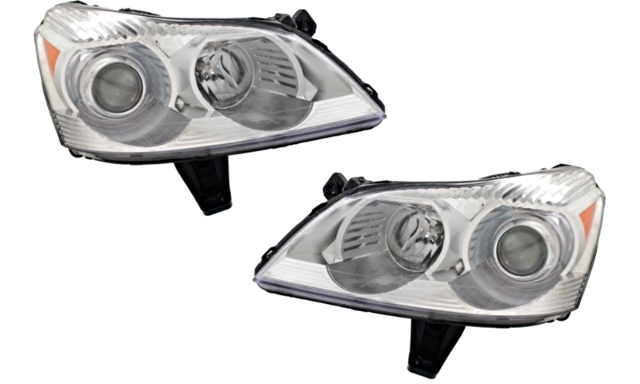 Fits 09-12 Chev Traverse Left & Right Headlamp Assembly With Projector Beam -Set