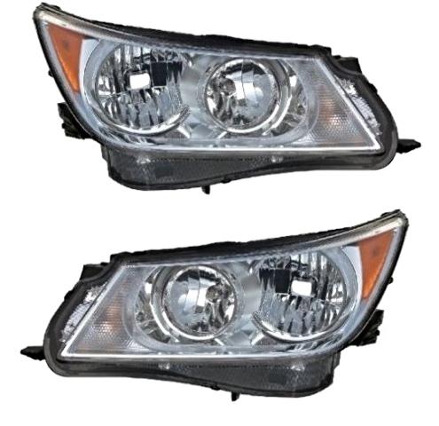Fits 10-13 Buick LaCrosse Left & Right Halogen Headlamp Assemblies - Set