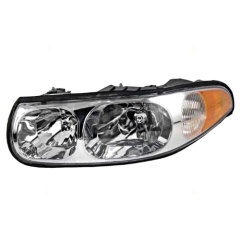 Fits 00-05 LeSabre Limited Left Pass Headlamp Assm w/fluted hi beam - 4 bulbs