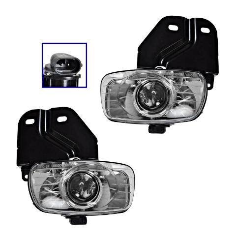 Fits 99-00 Cadillac Escalade 99-00 GMC Yukon Denali Left & Right Fog Lamp Assem