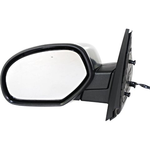 Fits 07*-14* Silverado, Sierra Left Driver Mirror Assembly Brushed Chrome, Heat