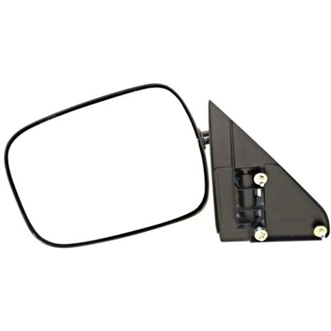 Fits 88-00 Chevrolet GMC C / K Pickup Left Driver Mirror Manual Unpainted Black