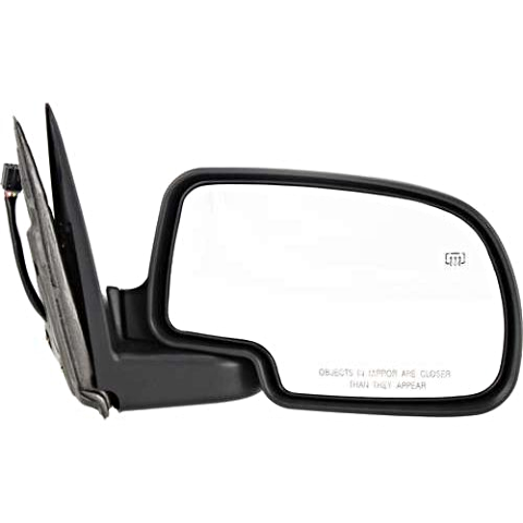 Fits 99-02  GM Trucks Power Mirror Chrome Man Fold With Ht/Puddle Lamp