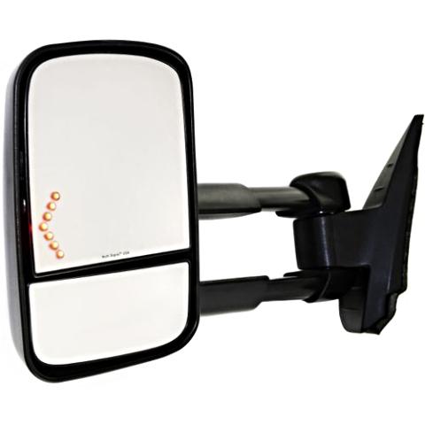 Fits 07-14 Silverado / Sierra Left Driver Tow  Mirror w/Heat, Pwr, Sig, Man Tele