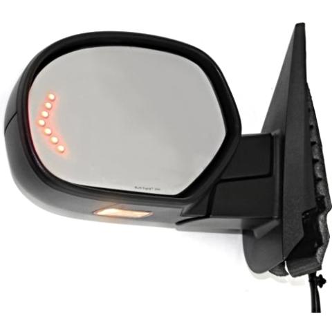 Fits 07-13 Sierra Silverado Left Driver Pwr Fold Mirror W/Heat Mem Signal Puddle