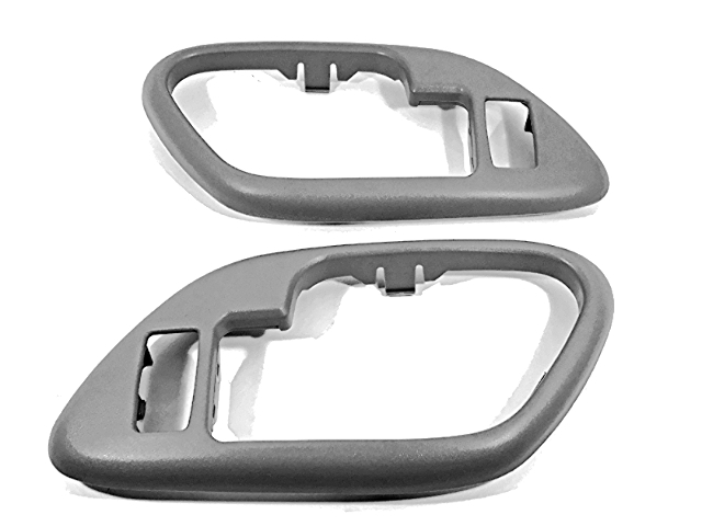 Fits  GM Trucks SUV Interior Door Handle Bezel Grey Left & Right Set Fits Front/Rear w/ Power Locks