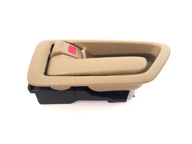 Fits 97-01 Camry Left Driver Side Front / Rear Interior Door Handle w/ Bezel Tan
