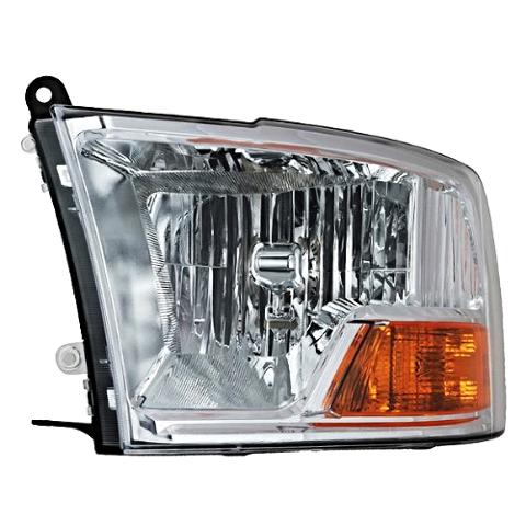 Fits 09-12 Dodge Ram 1500 2500 3500 Left Driver Headlamp WithOut Quad Headlamps