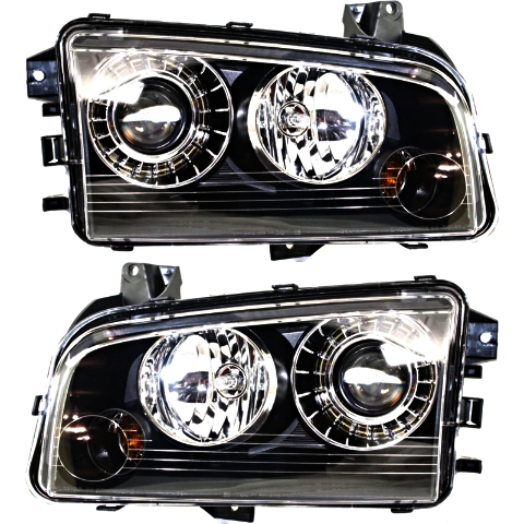 Fits 08-10 Dodge Charger Left & Right HID Headlamp Assem With Out HID Kit - Set