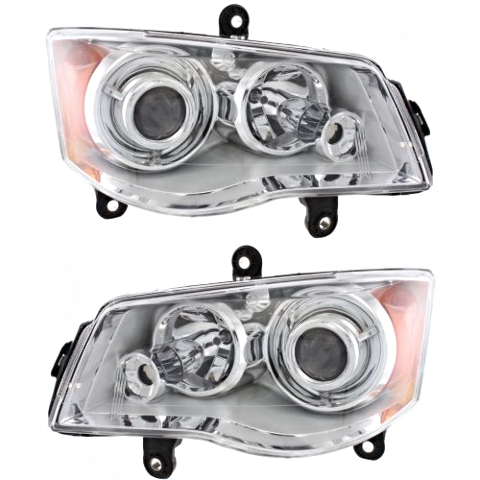 Fits 08-16 Town & Country Left & Right HID Headlamp (no HID kit; no Smart Beam)