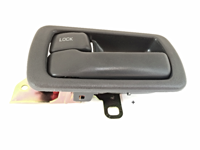 Fits 92-96 Camry Left Driver Front / Rear Interior Door Handle & Bezel Grey