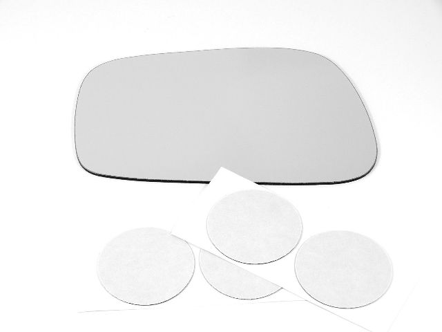 Fits 09-13 Pont Vibe, Toy Corolla, Matrix Left Driver Mirror Glass Lens w/Silicone