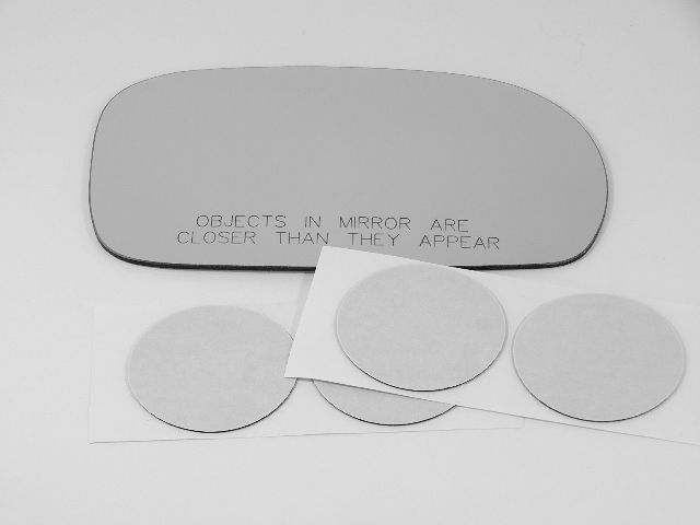 Fits 96-99 Paseo 91-99 Tercel 2 Options Right Pass Mirror Glass Lens  w/Adhesive