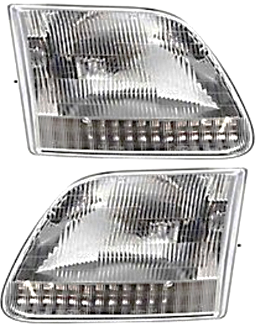 Fits 04  F150 Heritage Edition (except Lightning) Left & Right Headlamp-Set