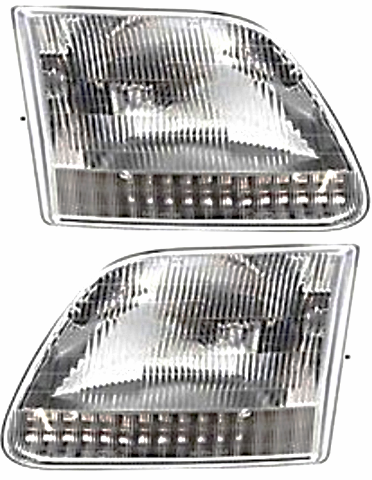 Fits 97-99  F250 Light Duty; 97-02 Expedition Left & Right Headlamp Assm-Set