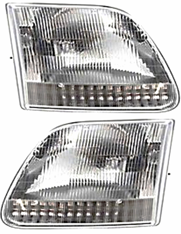 Fits 97-03 Ford F150 (except Harley & Lightning ed.) Left & Right Headlamp -Set