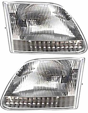 Fits 97-03  F150 (except Harley & Lightning ed.) Left & Right Headlamp -Set