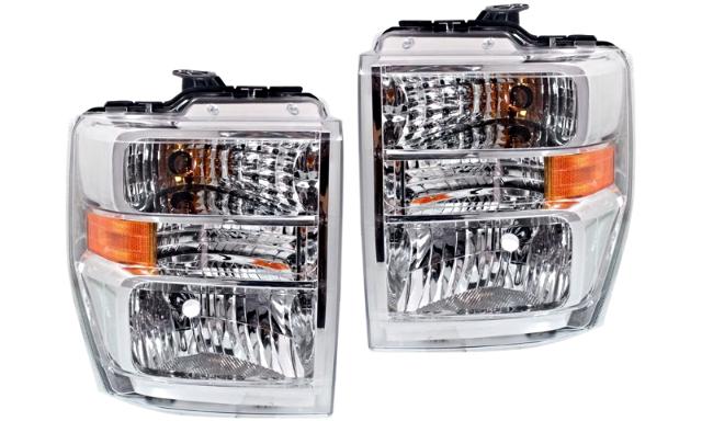 Fits 08-19  E Series Van Left & Right Composite Headlamp Aero Style -Set