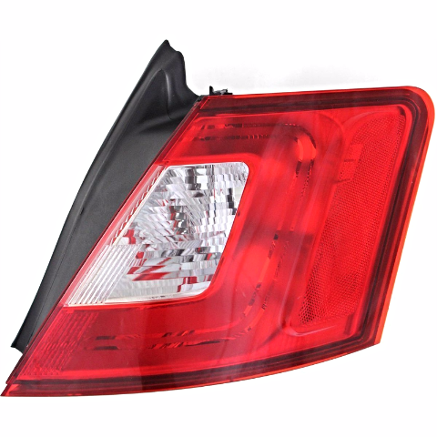 Fits 10-12  Taurus Right Passenger Tail Lamp with Red Trim Quarter Mounted