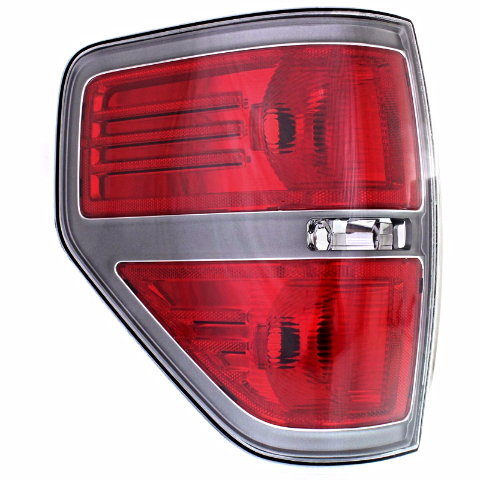 Fits 09-14  F150 Left Driver Tail Lamp Assembly with Sterling Gray Trim
