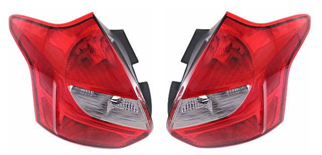 Fits 12-14  Focus Hatchback Excludes Electirc Left & Right Set Tail Lamp