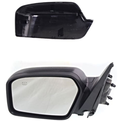 06-10 Fusion Power Heated W//Puddle Lamp Black Rear View Mirror Left Driver Side