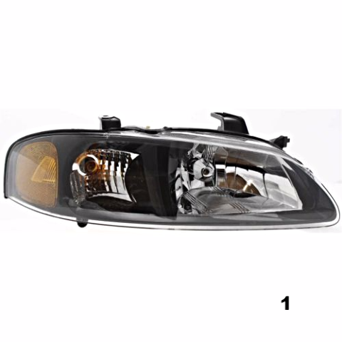 Fits 00-01 NISSAN SENTRA RIGHT PASSENGER HEADLAMP ASSEMBLY