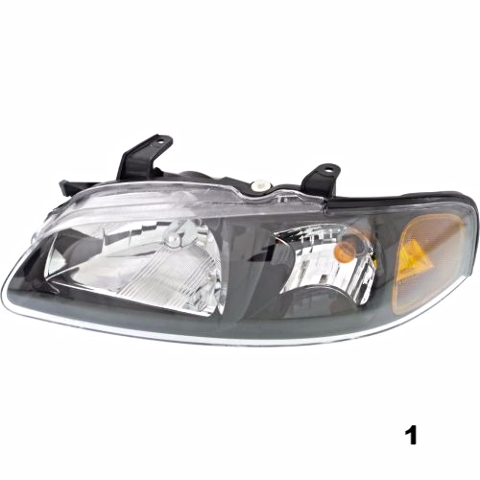 Fits 02-03 NISSAN SENTRA LEFT DRIVER HEADLAMP ASSEMBLY With/BLACK BEZEL